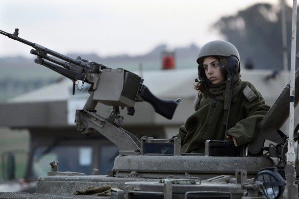 MIDEAST-ISRAEL-PALESTINIAN-CONFLICT-GAZA-WOMAN-SOLDIER