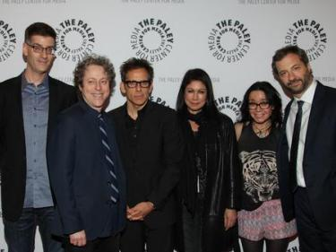 Rob Cohen (far left) and Jeanne Garofalo (2nd from rt) at a reunion for The Ben Stiller Show at the NY Comedy Fest (11/12/12)