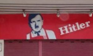 Hitler Chicken Sign