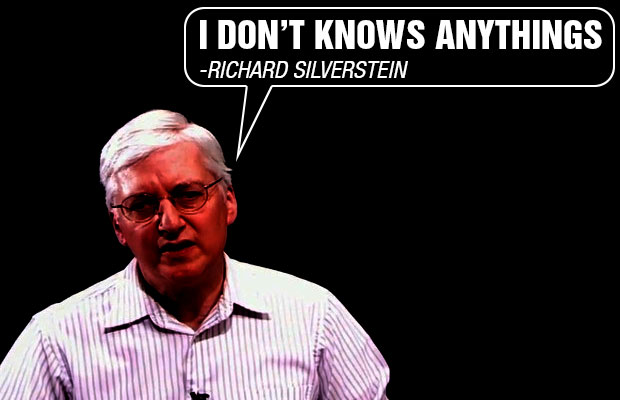 Richard Silverstein knows nothing about Judaism