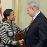U.S. NSC adviser Susan Rice hanging with  Israeli PM Binyamin Netanyahu in May 2014